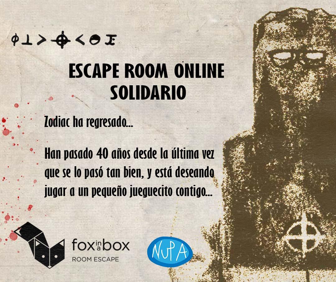 Escape room online El asesino del Zodiaco