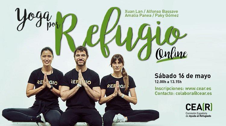 Yoga online y solidario para apoyar la protección de personas refugiadas