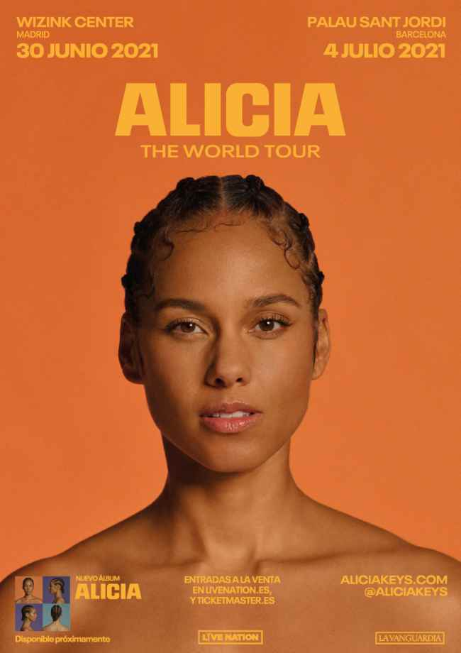 Alicia Keys llegará a Madrid en 2021