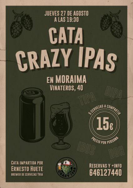 Cata de cervezas IPAs en Moraima Vinateros - Un buen día en Madrid