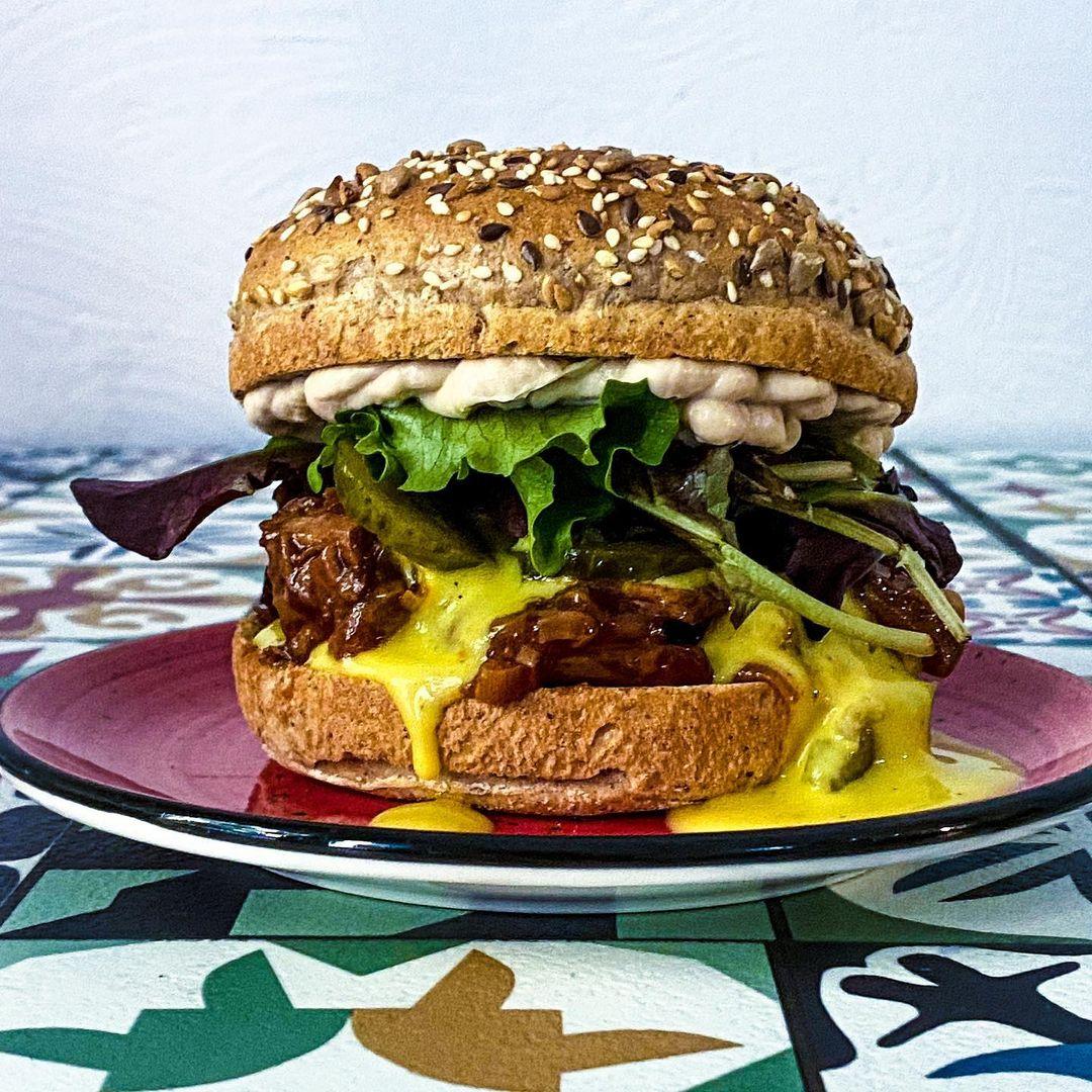 hamburguesa distrito vegano
