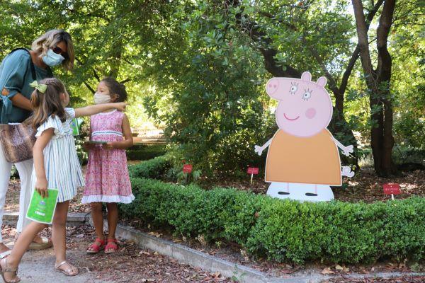 Peppa Pig y su familia visitan el Jardín Botánico de Madrid - Un buen día en Madrid