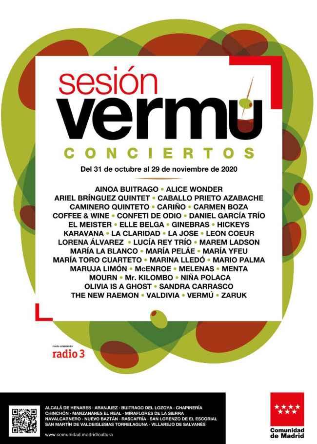 Conciertos en Sesión Vermú en 14 localidades de Madrid