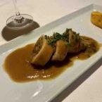 Calamar relleno de puré de calabza y genjibre en restaurante Popa