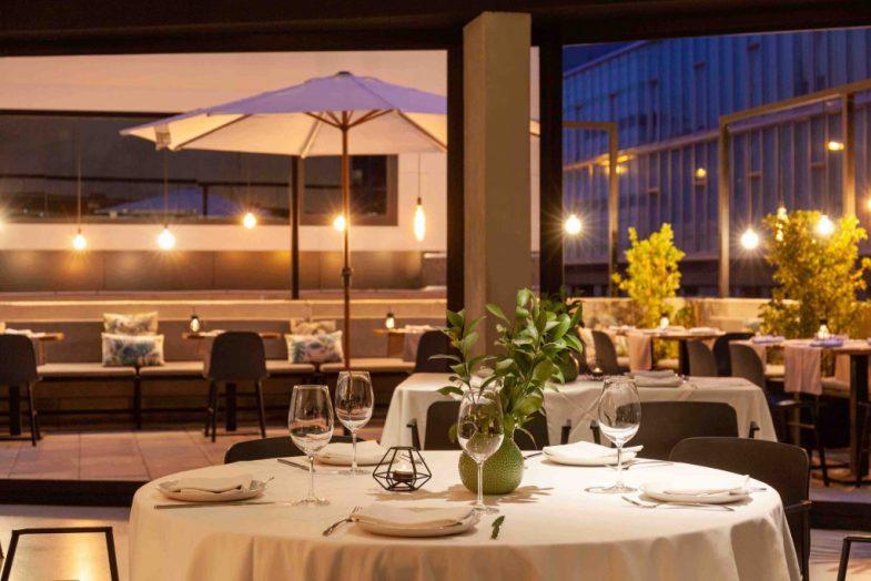 Vista de la terraza de restaurante Popa