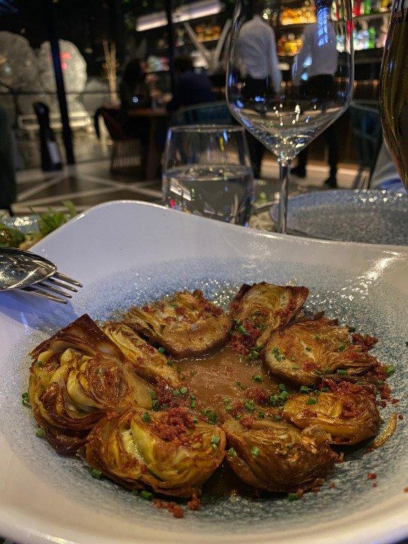 alcachofas fritas ginkgo bar