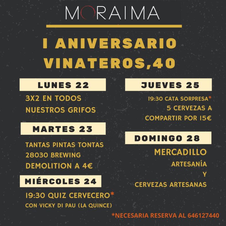 Moraima Vinateros celebra su primer aniversario - Un buen día en Madrid