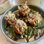 Croquetas de pulpo, mayo japonesa y katsuobushi