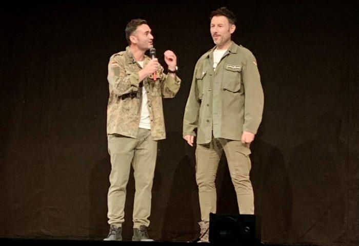 Karim González e Iñaki Urrutia durante el show